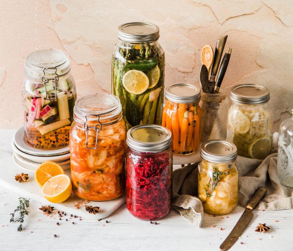 Chucrut, remolacha y encurtidos en salazón para una mejor flora intestinal.