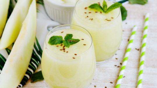 Smoothie de melón, una fuente deliciosa de vitamina C. Dra Escoda, Centro de Medicina Estética en Barcelona
