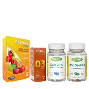Pack completo de suplementación anti-aging y para mejorar la inmunidad