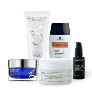 Pack de limpieza, hidratación y protección para pieles secas o deshidratadas, rutina facial completa