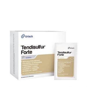 Tendisulfur Forte 28 sobre. Aporte de colágeno, vitamina C y otros nutrientes